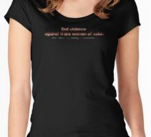LGBT Pride End Violence Against Trans Women Of Color Women's Fitted Scoop T-Shirt