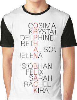 Orphan Black - names Graphic T-Shirt
