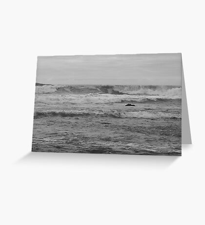 Waves to The Sky Greeting Card