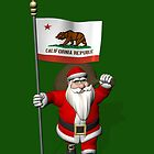 Santa Claus With Flag Of California by Mythos57