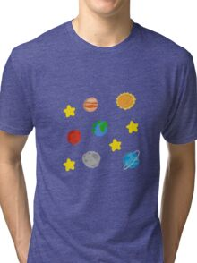 Cute Space Pattern Tri-blend T-Shirt