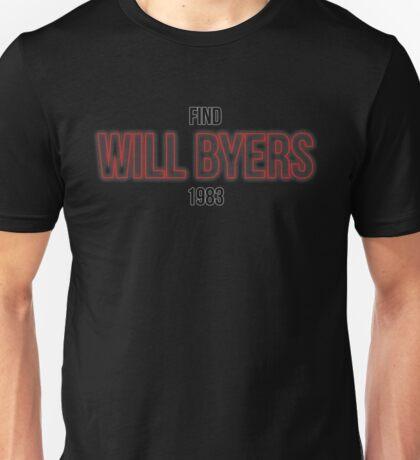 Find Will Byers 1983 Unisex T-Shirt