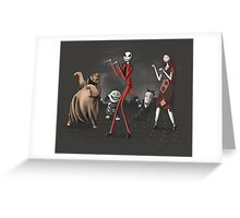 Thriller before Christmas Greeting Card