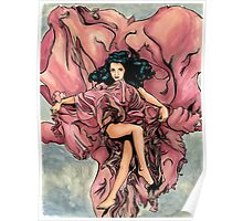Red Rose Deity Poster