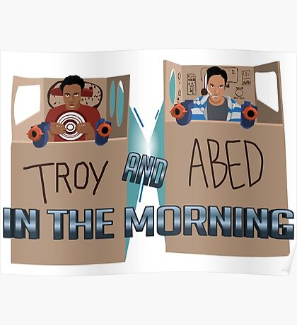 Troy And Abed In Space Poster