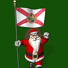Santa Claus With Flag Of Florida by Mythos57