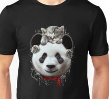 CAT ON PANDA Unisex T-Shirt