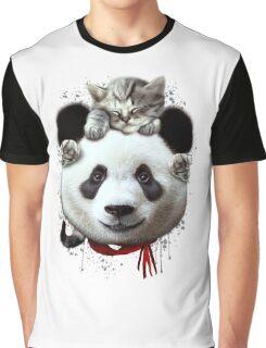 CAT ON PANDA Graphic T-Shirt