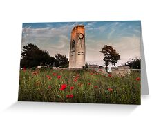 Swansea cenotaph Wales coastal path Greeting Card