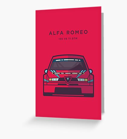 Alfa Romeo Touring Car Martini (Martini Red Red Text) Greeting Card