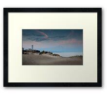 Swansea bay sand dunes Framed Print