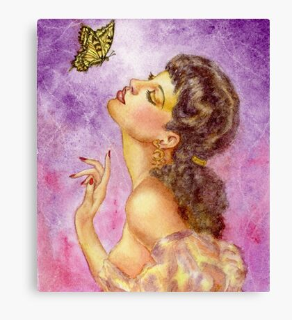 Beautiful Butterfly Girl Canvas Print