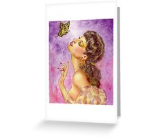 Beautiful Butterfly Girl Greeting Card