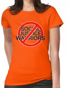 NO SOCIAL JUSTICE WARRIORS - classic Womens Fitted T-Shirt