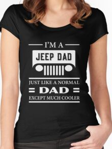 Jeep Dad T-shirt Women's Fitted Scoop T-Shirt