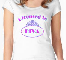 Licensed to Diva Alternate Color Women's Fitted Scoop T-Shirt