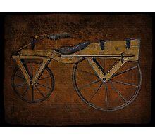 "Laufmaschine (""running machine""),ARCHETYPE VINTAGE BICYCLE from around 1820 PICTURE Photographic Print"