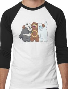 Poke Bare Bears Men's Baseball ¾ T-Shirt