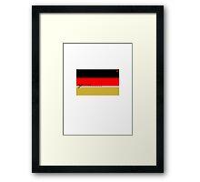 Schwarz - Rot - CUT HERE - Gold Framed Print