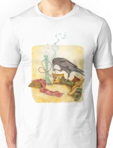Crow with Hookah Unisex T-Shirt