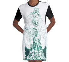 Enchantress in Emerald Ink Graphic T-Shirt Dress