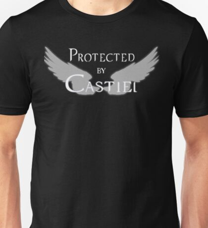 Protected by Castiel White Wings Unisex T-Shirt