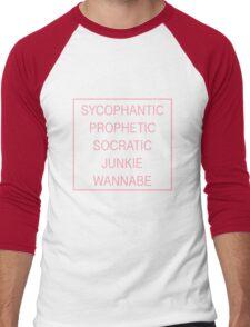 The 1975 Lyrics Men's Baseball ¾ T-Shirt