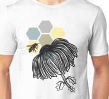 Bee Love on Hexagons Unisex T-Shirt