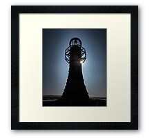 Whitford lighthouse north Gower Framed Print