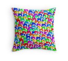 Mini rainbow hamster Throw Pillow