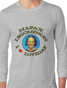 Hapax legomenon #2 Long Sleeve T-Shirt
