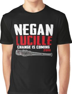 Negan Lucille Change is Coming Graphic T-Shirt