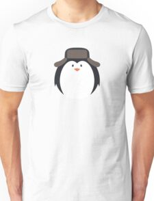 Cute Round Penguin in Hat Unisex T-Shirt