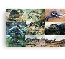 Vintage Dinosaur Illustrations Canvas Print