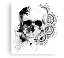 Monochrome Skull Canvas Print