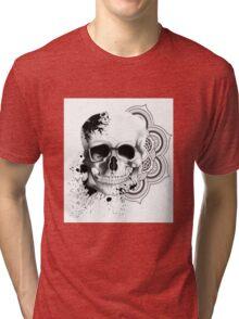 Monochrome Skull Tri-blend T-Shirt