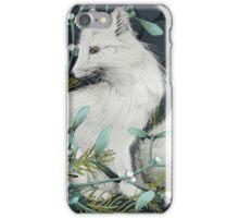 Arctic Fox Holiday Portrait iPhone Case/Skin