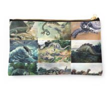 Vintage Dinosaur Illustrations Studio Pouch