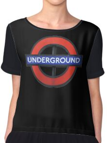 London Underground Sticker - The Tube Sign T-Shirt Chiffon Top