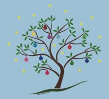 Colour Me Christmas Tree Baubles Baby Tee