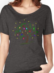 Colour Me Christmas Tree Baubles Women's Relaxed Fit T-Shirt