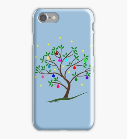 Colour Me Christmas Tree Baubles iPhone Case/Skin