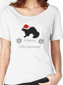 Christmas Ferret Women's Relaxed Fit T-Shirt