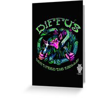 """Diffus """"Don´t Feed the Trolls! EP"""" Greeting Card"""
