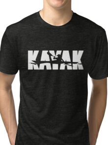 Kayak - Big bold and eye catching Tri-blend T-Shirt
