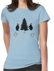 Christmas Penguins Womens Fitted T-Shirt