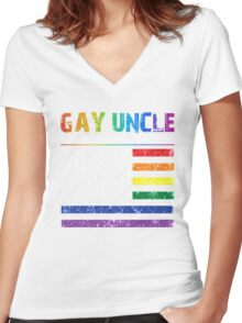 Gay uncle the man the myth the legend T-shirt Women's Fitted V-Neck T-Shirt
