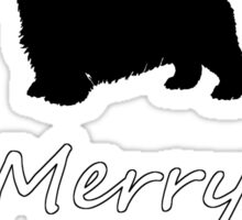 Christmas Terrier Sticker