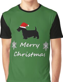 Christmas Terrier Graphic T-Shirt
