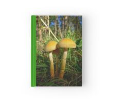 """""""There are three of us"""". The mushrooms in the forest Hardcover Journal"""
